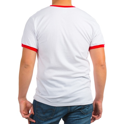 100% Cotton T-Shirt. Fabric is 5oz pre-shrunk lighter weight cotton.