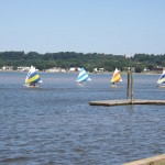 Kids learning to sail at the Washington Sailing Marina in Alexandria, VA