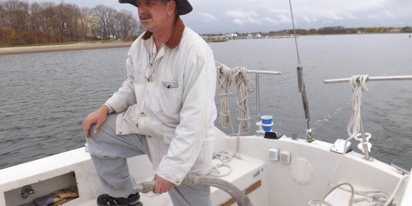 Captain Dave at the helm