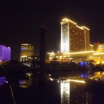 Atlantic City Marina by Night